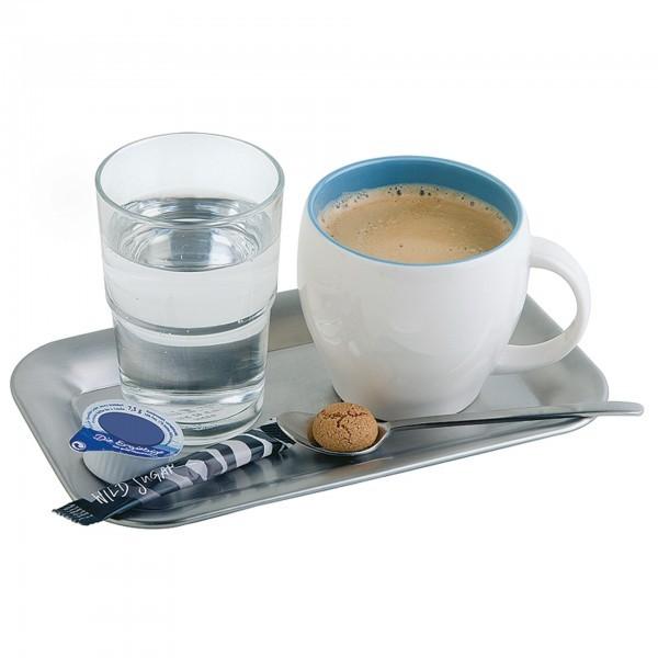 Serviertablett - Edelstahl - matt poliert - rechteckig - Serie Kaffeehaus - APS 30118