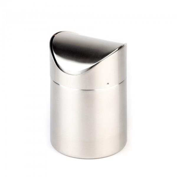 Tischrestebehälter - Edelstahl - matt poliert - rund - APS 00029
