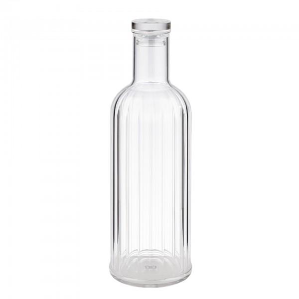 Flasche - Kunststoff - transparent - rund - Serie Stripes - 10748
