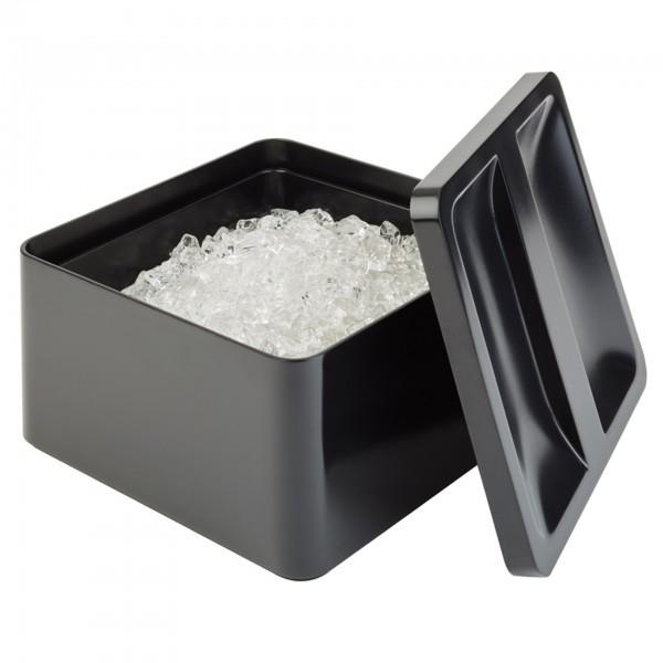 Eisbox - SAN - schwarz - quadratisch - APS 93220