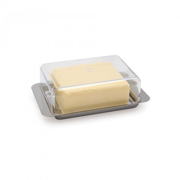 Kühlschrank-Butterdose - Edelstahl - eckig - APS 00063