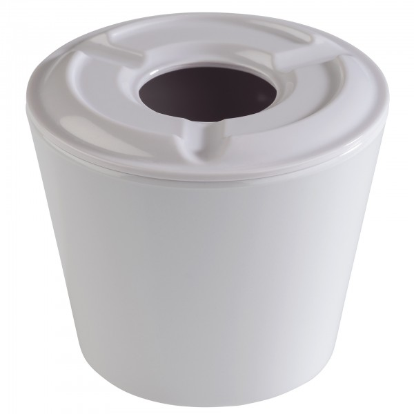 Windaschenbecher - Melamin - weiß - rund - Serie Mini - 83620