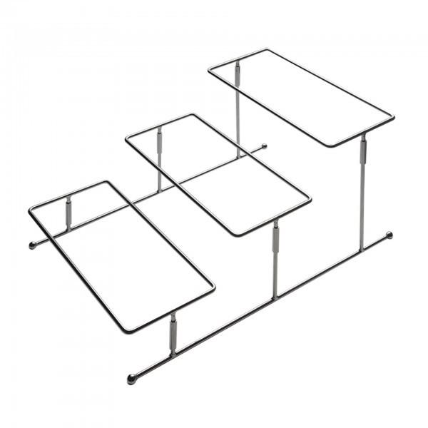 Serviergestell - Metall - hartverchromt - Serie Flexibel - APS 33243
