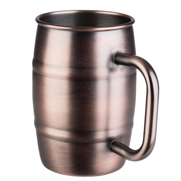 Becher - Edelstahl - kupfer-antik - rund - Serie Beer Mug - 93364