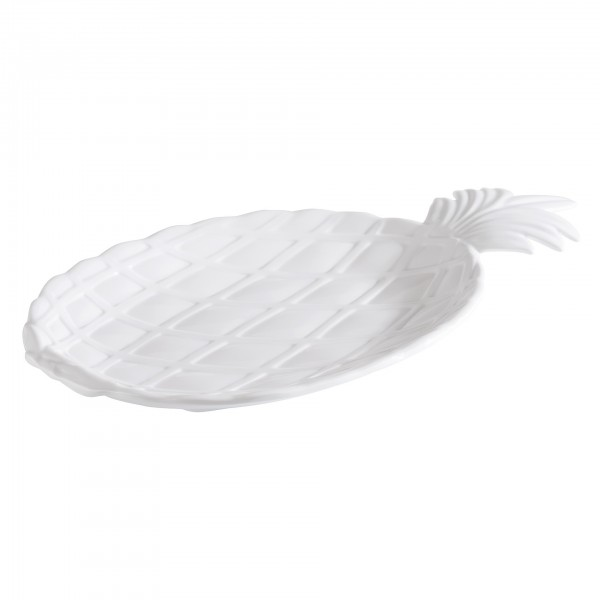 Tablett - Melamin - weiß - oval - Serie Pinapple - 84624