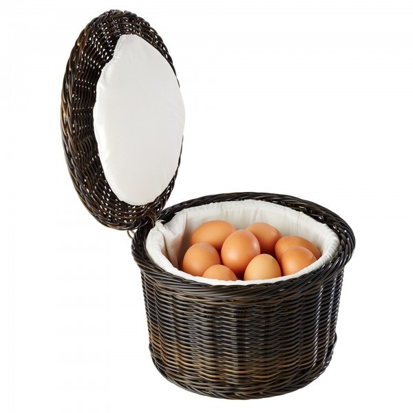 Eier-Korb - Polypropylen - schwarz, braun - APS 40299