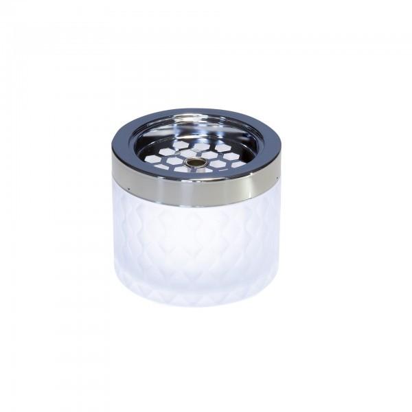 Wind-Aschenbecher - Glas - weiß - APS 00560