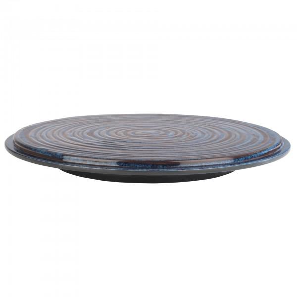 Tortenplatte - Melamin - blau-grau - rund - Serie Loops - 85033
