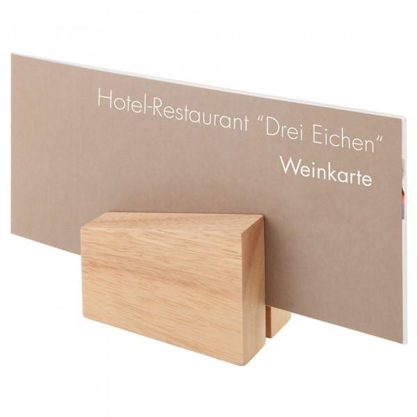 Kartenhalter - Holz - hell - APS 00023