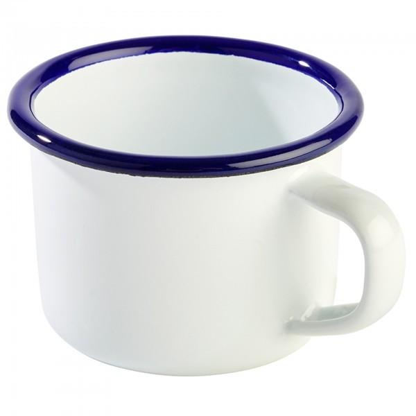 Henkelbecher - Stahl - weiß, blau - Serie Enamelware - APS 40636