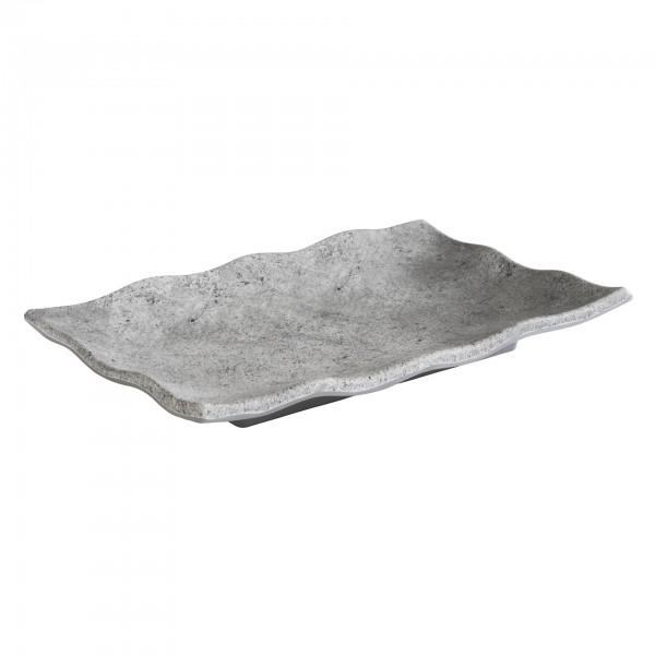Tablett - Melamin - grau - rechteckig - Serie Element - 84823