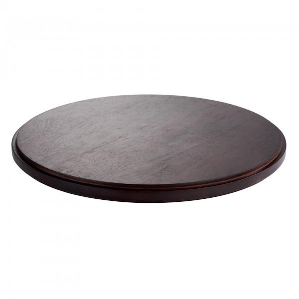 Zwischenplatte - Holz - dunkel - rund - Serie Asia Plus - APS 15524