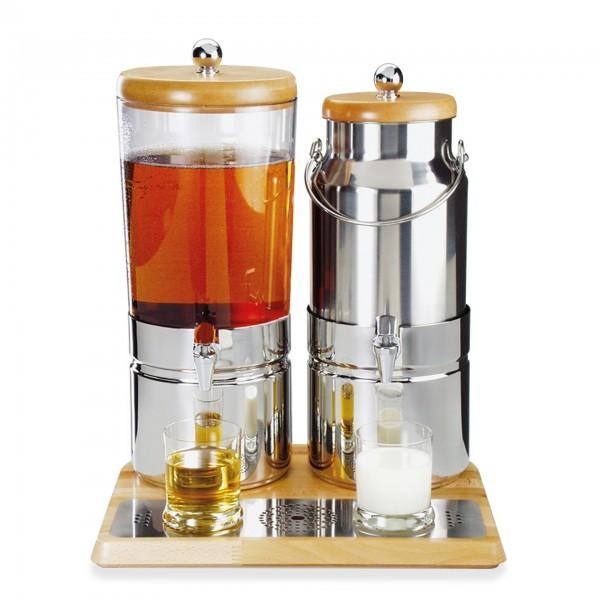 Saft- und Milchdispenser - Buchenholz - Serie Top Fresh - APS 10765