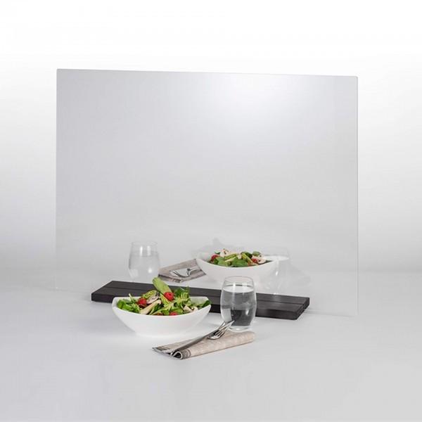 Hygieneschutzwand - transparent - rechteckig - ohne Öffnung - 98015