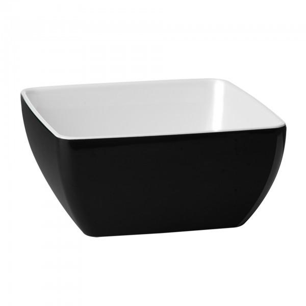 Schale - Melamin - schwarz - quadratisch - Serie Pure Bicolor - APS 84414