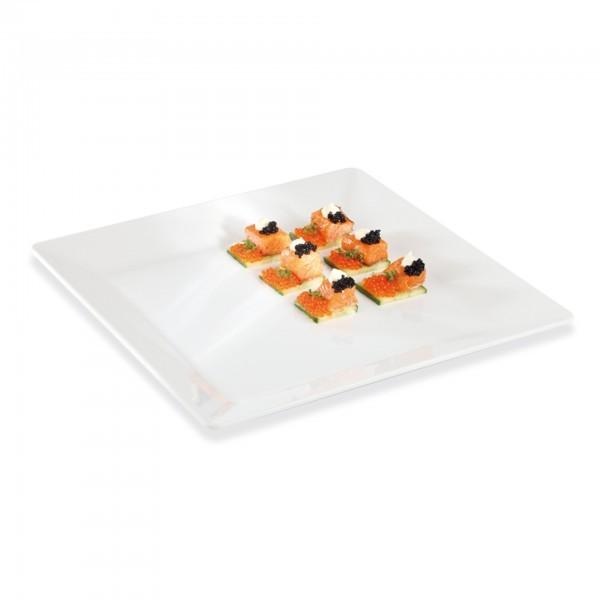 Tablett - Melamin - weiß - quadratisch - Serie Pure - APS 83418