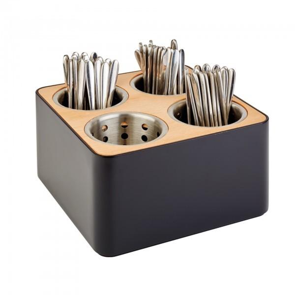 Besteckbehälter - SAN - schwarz - APS 93321