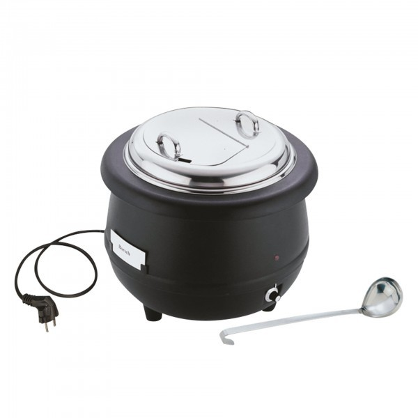 Elektrischer Suppentopf - Aluminium / Edelstahl / Polypropylen - rund - APS 11910