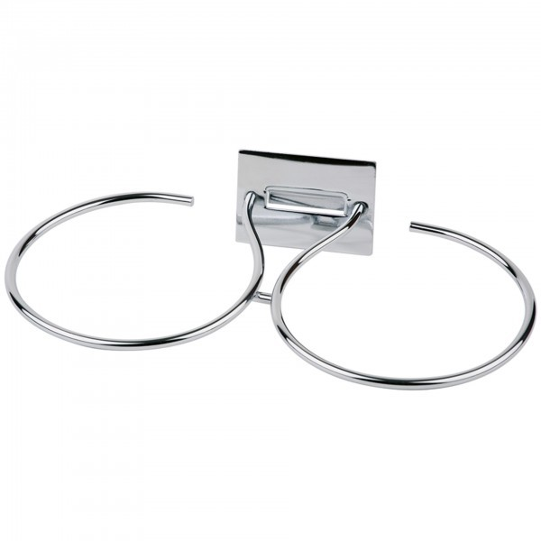 Doppelring - Metall - verchromt - Serie Little - APS 11497
