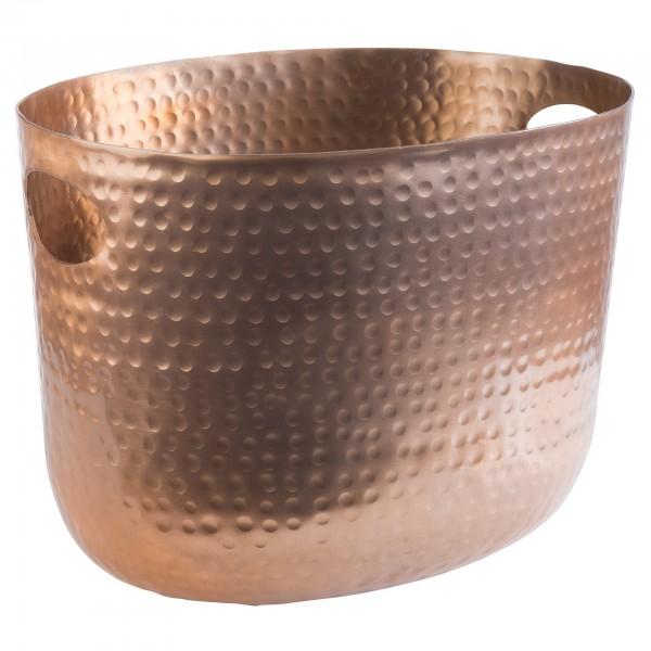 Wein- / Sektkühler - Aluminium - kupfer - oval - 36111