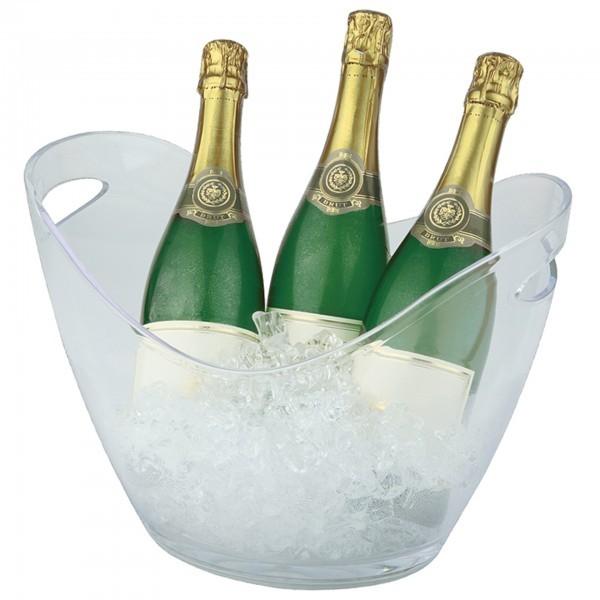 Wein- / Sektkühler - MS - glasklar - oval - APS 36048