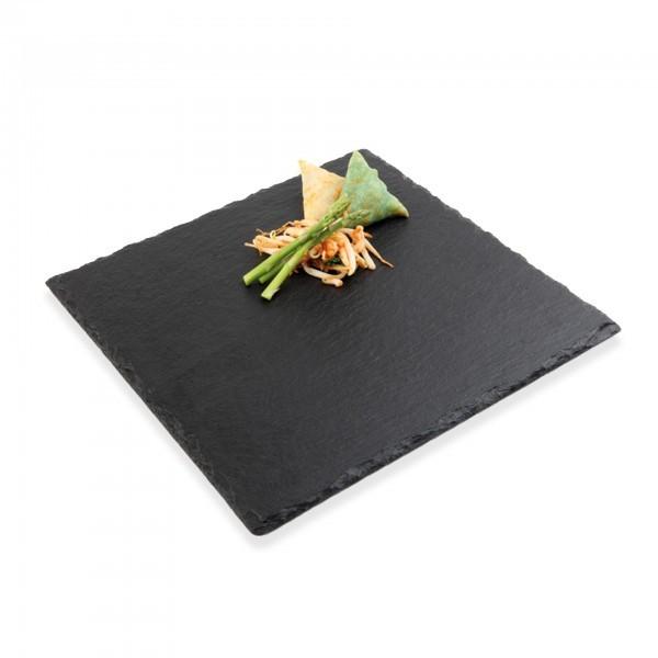 Naturschieferplatte - Naturschiefer - schwarz - quadratisch - APS 00994