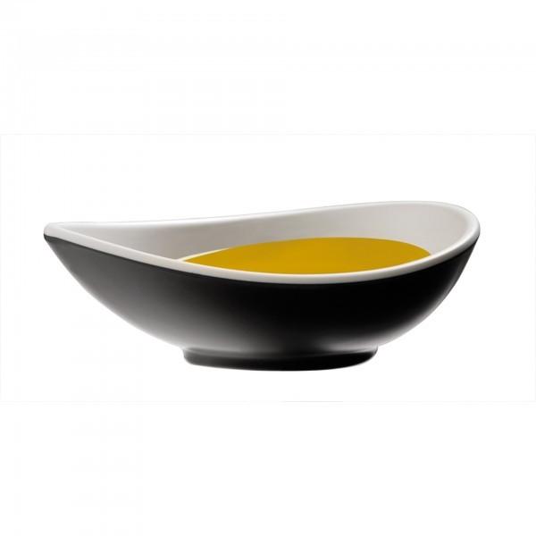 Schale - Melamin - schwarz, weiss - Serie Halftone - APS 84130