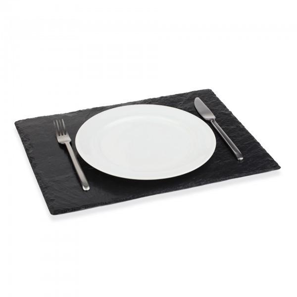 Naturschieferplatte - Naturschiefer - schwarz - rechteckig - APS 00996