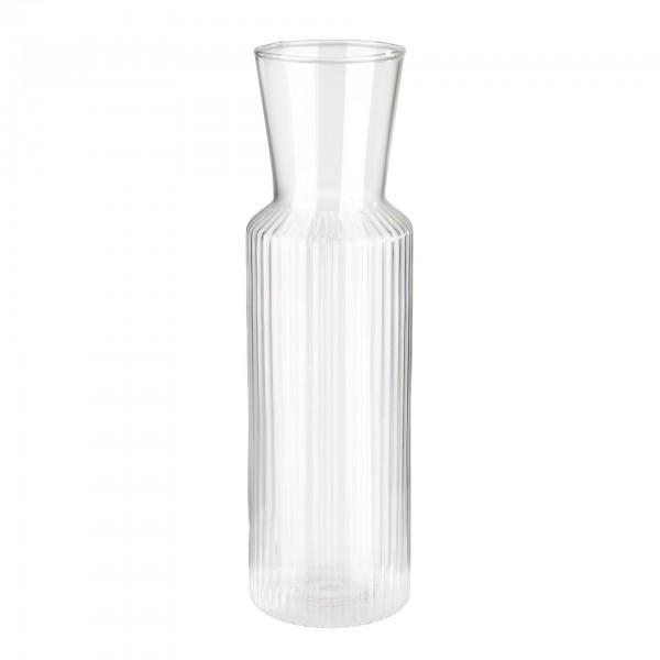 Karaffe - Glas - transparent - rund - Serie Lines - 10738