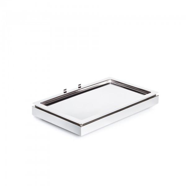 Cool Plates - Edelstahl - weiß - rechteckig - Serie Frames - APS 12940