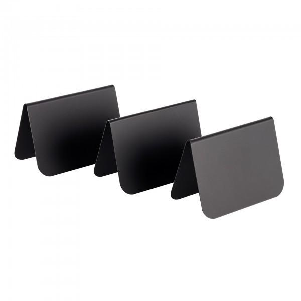 Tischaufsteller - PVC - schwarz - APS 00011