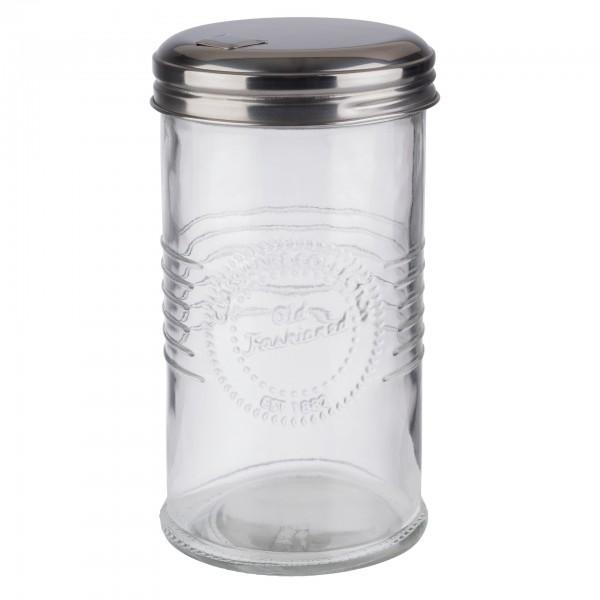 Zuckerspender - Glas - transparent - rund - Serie Old Fashioned - 40510