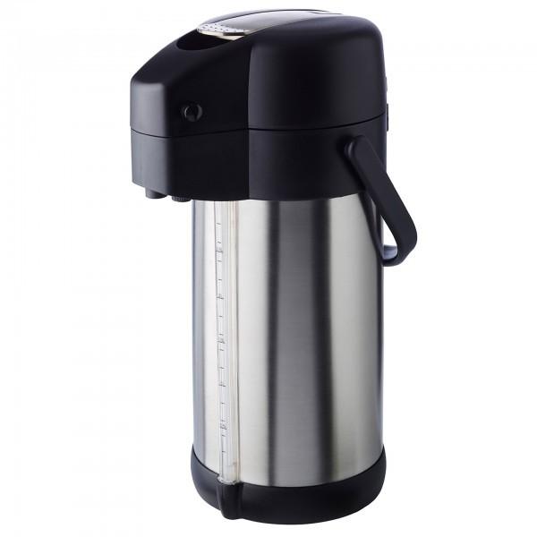 Pump-Isolierkanne - Edelstahl / Polypropylen - matt poliert - Serie Premium - APS 10916