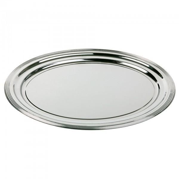 Partyplatte - Metall - verchromt - oval - Serie Klassik - APS 00398