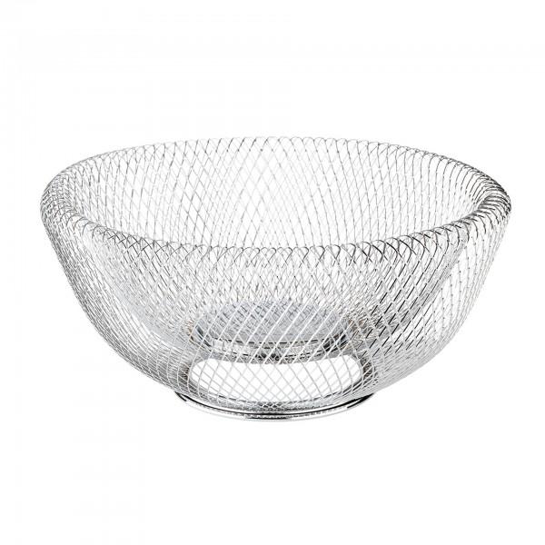 Brot- und Obstkorb - Metall - silber - rund - Serie Wire - 30205