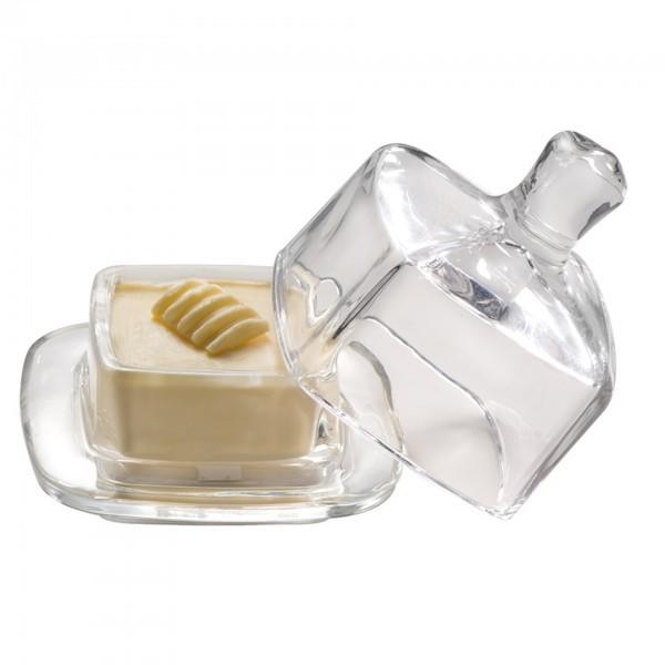 Butterservierer - Glas - eckig - APS 15926