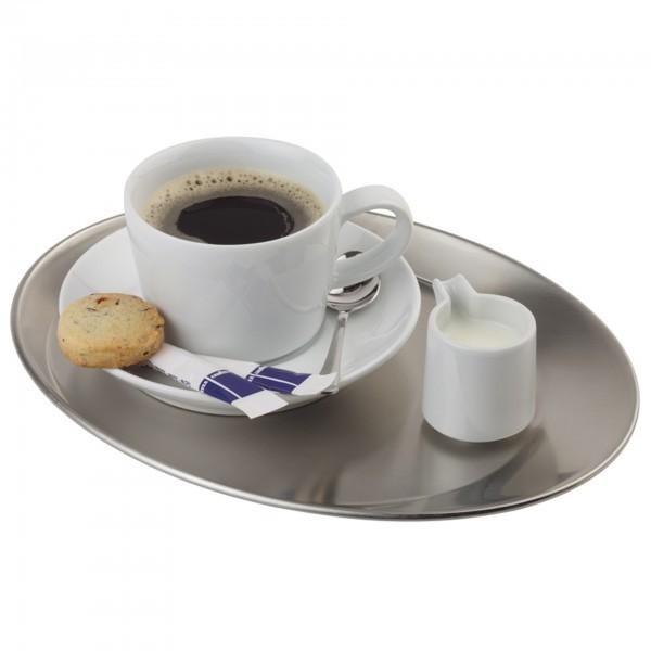Serviertablett - Edelstahl - mattiert - Serie Kaffeehaus - APS 30126