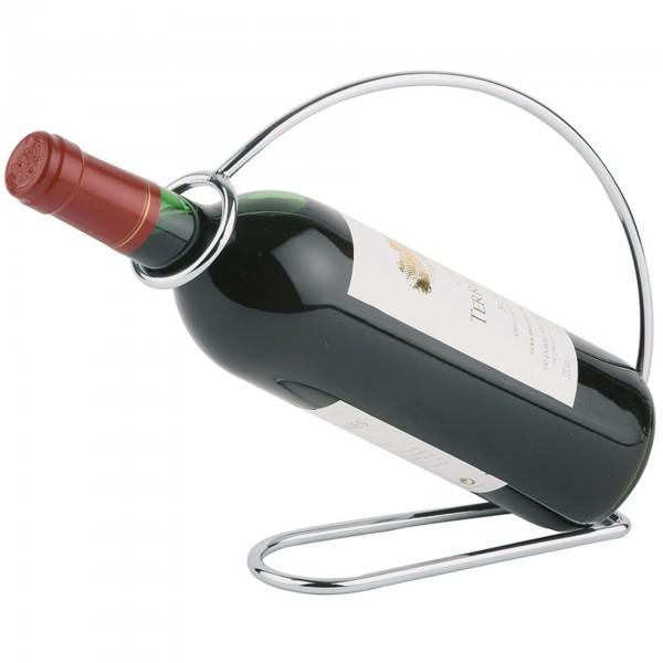 Weinflaschenhalter - Metall, verchromt - APS 30333
